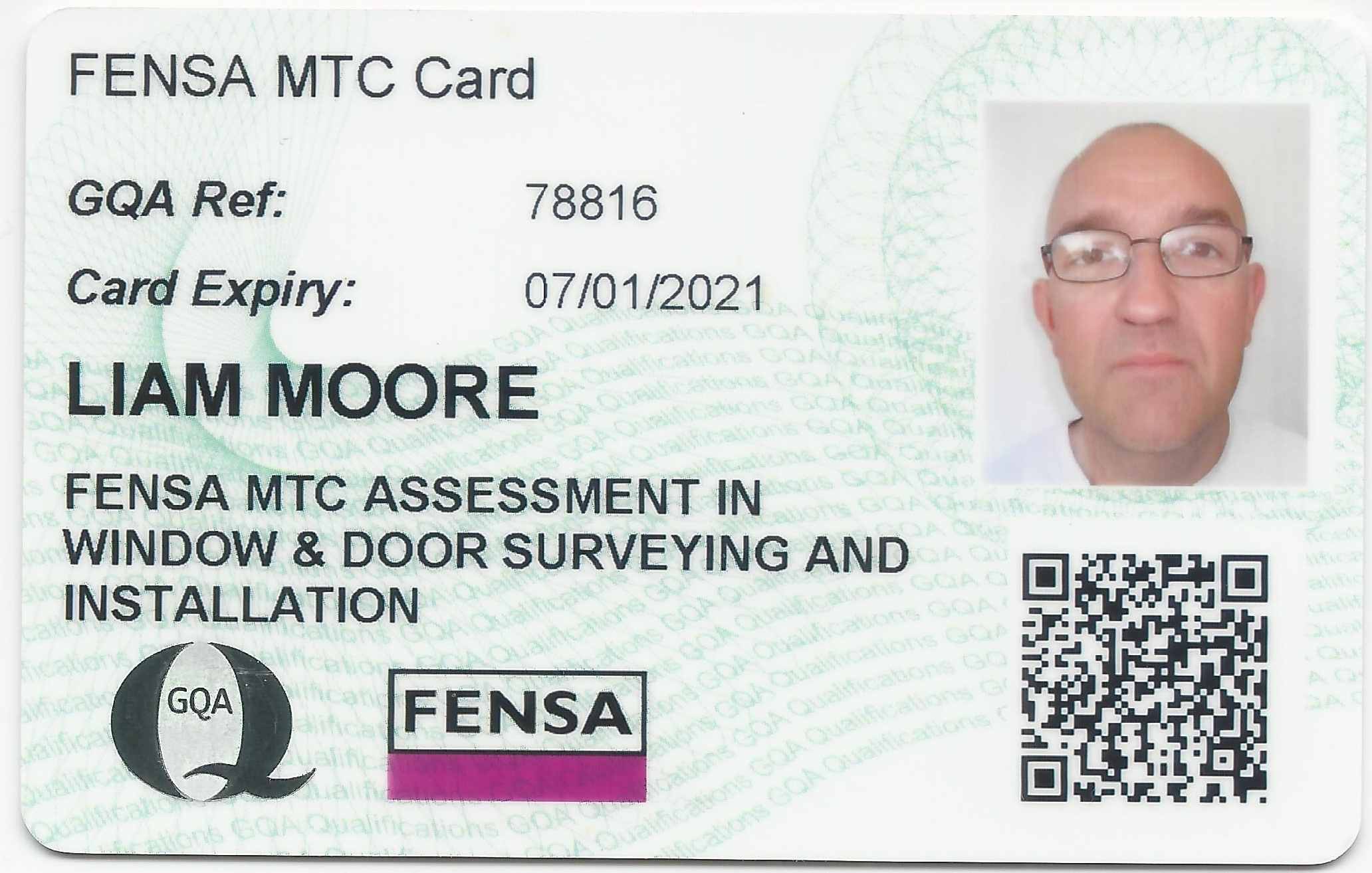 MTC Competency card