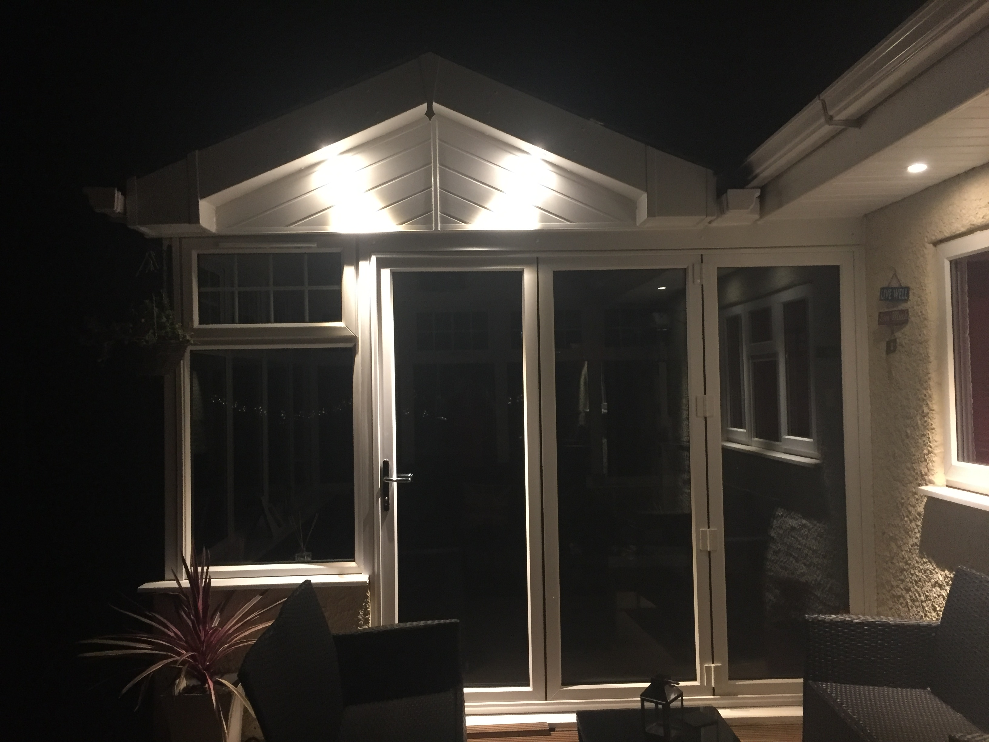 White UPVC Gable ended conservatory