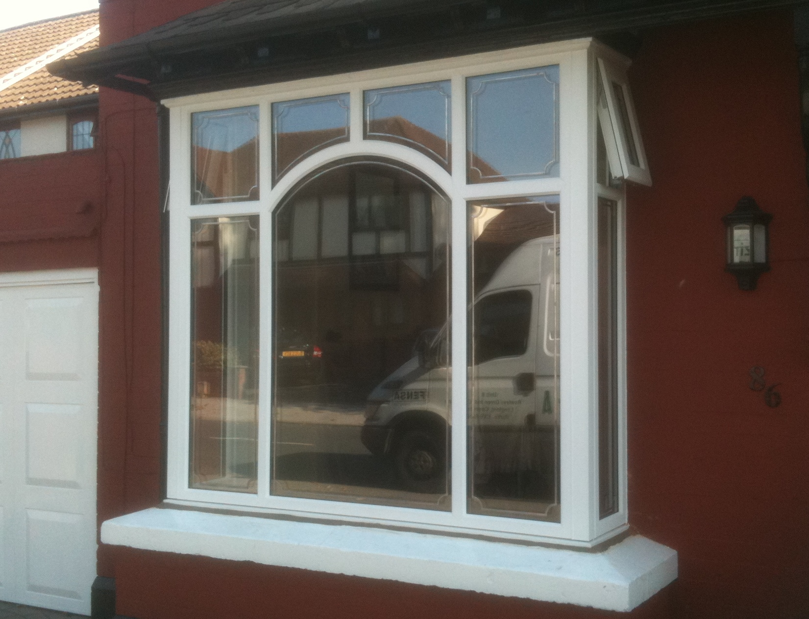 Arched upvc window