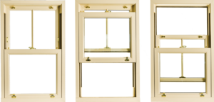 Traditional sliding sash UPVC windows